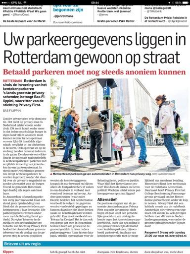 AD/Rotterdams Dagblad 27 september 2014